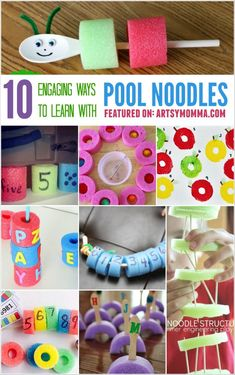 Pool noodles 10 Engaging Ways to Learn with Pool Noodles Preschool Learning, Educational Activities, Learning Activities, Preschool Activities, Kids Learning, Summer Activities, Indoor Activities, Teaching, Kindergarten Math