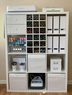 KALLAX Shelf unit - white - IKEA - The Effective Pictures We Offer You About minimalist craft storage A quality picture can tell you - Craft Room Storage, Ikea Craft Room, Small Craft Rooms, Craft Room Decor, Craft Room Design, Cricut Craft Room, Craft Organization, Diy Home Decor, Craft Space