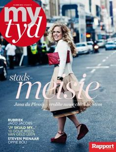On the cover of 'My Tyd' magazine. Greatest moment of my life.