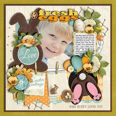 Cindy's Layered Templates - Trio Pack 42: Easter Treats by Cindy Schneider: Bunny Trail by Kristin Cronin-Barrow (Retired)