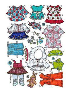 Karen`s Paper Dolls: Ditte 1-2 Paper Doll in Colours. Ditte 1-2 påklædningsdukke…
