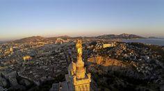 Notre-Dame-de-la-Garde, Marseille, Bouche du Rhone , FRANCE | Dronestagram
