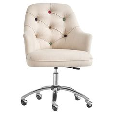 Find cool teen desk chairs and study in stylish comfort. Computer chairs feature adjustable seats and swivel designs to meet all of your seating needs. Tufted Desk Chair, Desk Chair Teen, Desk Chair Comfy, Teen Desk, Swivel Chair, Dorm Desk, Chair Cushions, White Wooden Rocking Chair, Dorm Chairs