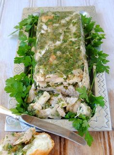 Jellied Turkey Terrine with Parsley and Capers
