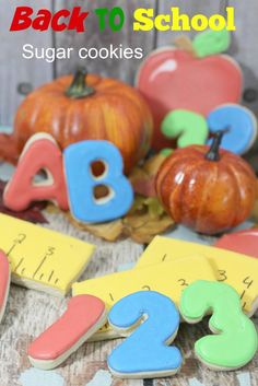 Back to School ABC cookies and ruler