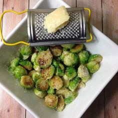 "Parmesan Brussels Sprouts | ""This was delicious! Quick and so easy. This is something I will be making all of the time now!"""