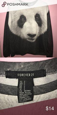 Forever 21 panda sweater Cute panda sweater, brand new! Forever 21 Tops Sweatshirts & Hoodies