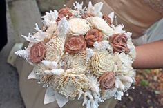 Geology Bouquet!! Oh my goodness, it is beautiful! Desert Rose and Coral :D Love!