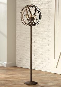 Possini Euro Design Orbital Weave Industrial Floor Lamp