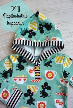 The kummilahja DIY Cocktail hoodie Sewing Kids Clothes, Sewing For Kids, Sewing Hacks, Sewing Tips, Stretch Fabric, Hoodies, Knitting, Pattern, Sweaters