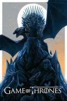 Game of Thrones Poster - Erstellt von Bella Grace - Game of Thrones - Game Of Thrones Tattoo, Tatouage Game Of Thrones, Game Of Thrones Artwork, Game Of Thrones Books, Game Of Thrones Facts, Game Of Thrones Quotes, Game Of Thrones Funny, Drogon Game Of Thrones, Game Of Thrones Dragons