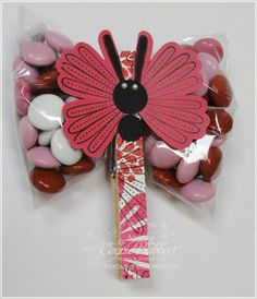 @Maddie Taylor - is this what you had in mind?  Stampin' Up!   Blossom Punch  Connie Babbert  Mixed Bunch Dragonfly  Valentine Treat Holder