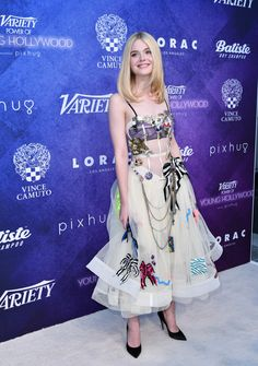 Elle Fanning attends Variety's Power of Young Hollywood at NeueHouse Hollywood on August 16, 2016 in Los Angeles.