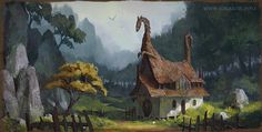 Dragon Valley Inn by Gergely Gizella, via Behance
