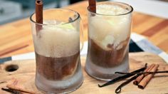 Chai tea root beer float