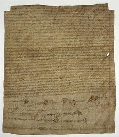 Charter of Clotilde - Category:Merovingian manuscripts — A 7th century noblewoman named CLOTILDE (Chlodechildis) endowed a monastery ar Bruyères-le-Châtel near to Etampes. This is the original charter. Among the signatures was Bishop AGILBERT of Paris, nommed bishp of the West Saxons, whose last recorded act this is. The document is dated to march 673. French national Archives