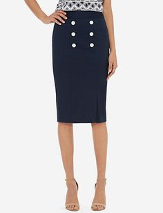 High Waist Military Pencil Skirt from TheLimited.com