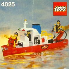 Find complete inventory of pieces and free instruction manual scans for LEGO Fire Boat 4025 at the ToysPeriod online toy guide Legos, Jurassic Park Jeep, Lego Boat, Lego Fire, Classic Lego, Free Lego, Lego Ship, Lego System, Vintage Lego
