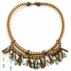 Collar Amunet Lazo Bronce.  www.dulceecanto.com - Tienda online de accesorios para mujer #accesorios #aretes #collares #pulseras #bolsos #bisuteria #moda #fashion #colombia