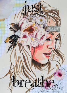 Just Breathe boho hippie gypsy art, via Flickr.