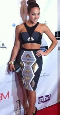 Melissa Gorga Two Piece Tribal Dress Melissa Gorgas Black & Grey Two Piece Dress