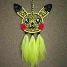Pika pika dream c Cute Crafts, Diy And Crafts, Crafts For Kids, Arts And Crafts, Pokemon Craft, Pokemon Party, Dream Catcher Tutorial, Dream Catcher Decor, Disney Dream