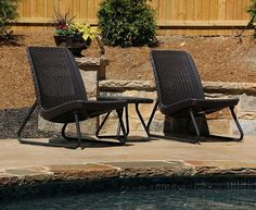 Outdoor Patio Furniture Set 3 Piece Table And Chairs All Weather Bistro Sets Brn #Keter