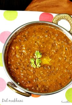 Dal makhani is a popular Indian dish made by simmering black lentils in a buttery, creamy, flavorful & spicy masala. Lentil Recipes, Veg Recipes, Curry Recipes, Indian Food Recipes, Asian Recipes, Vegetarian Recipes, Cooking Recipes, Healthy Recipes, Punjabi Recipes