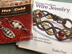 Two great new books hot off the press and in store today! Hot & Cold Jewelry Connections by Kieu Pham Gray, who is teaching in Charlotte this weekend at the Stitch Craft Create Live Event,  and Weaving Freeform Wire Jewelry by Kaska Firor.
