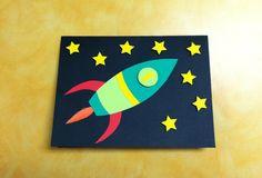 Rocket birthday card for a little boys first birthday.
