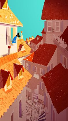 Italian rooftops #illustration #italian