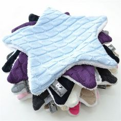 taggi blankies; recycled sweater on one side and fuzzy on the other. ID Doudou étoile