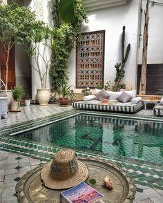 Le riad yasmin #Marroccos #minttea #riad #beautifulplaces #blue #green #trip #tips #minttea