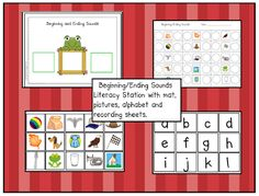 FREE Can Do Kinders: beginning and ending sounds
