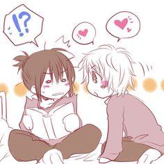 No. 6 ~~ Give him a kiss, please! :: Shion & Nezumi