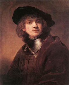 Self-portrait as a Young Man - Rembrandt  - Completion Date: 1634