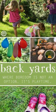 Backyard boredom busters