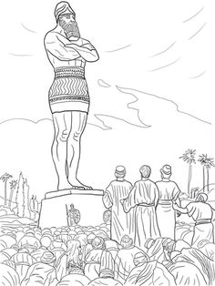 Shadrach, Meshach, and Abednego refused to worship the statue (Daniel 3)                                                                                                                                                                                 More