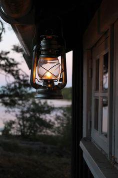 cabin, lantern