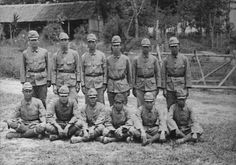 Group shot of Japanese Army soldiers