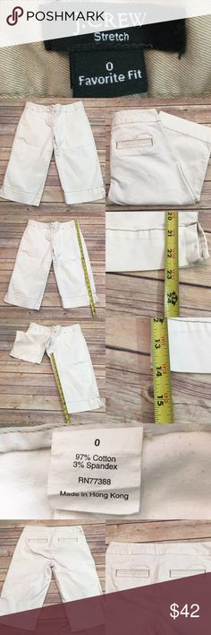 👒Size 0 Khaki J. Crew Favorite Fit Bermuda Shorts Measurements are in photos. Normal wash wear, no flaws. D2  I do not comment to my buyers after purchases, do to their privacy. If you would like any reassurance after your purchase that I did receive your order, please feel free to comment on the listing and I will promptly respond. I ship everyday and I always package safely. Thanks! J. Crew Shorts Bermudas