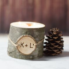 Personalized Candle Holder, Wood Candle, Log Candle, Rustic Home Decor, Personalized Gift, Rustic Decor, For Her, For Him, Father, Mother