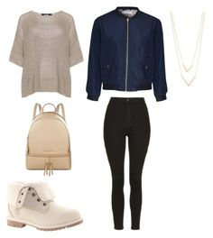 """Untitled #333"" by katiestjean on Polyvore featuring Timberland, navabi, Glamorous, Jennifer Zeuner, Topshop and MICHAEL Michael Kors"