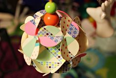 Paper ball with masking tape
