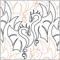mmmm, DRAGONS from Urban Elementz quilting patterns