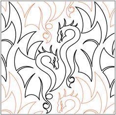 mmmm, DRAGONS from Urban Elementz quilting patterns
