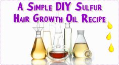 A Simple DIY Sulfur Hair Growth Oil Recipe  Read the article here - http://www.blackhairinformation.com/growth/hair-growth/simple-diy-sulfur-hair-growth-oil-recipe/