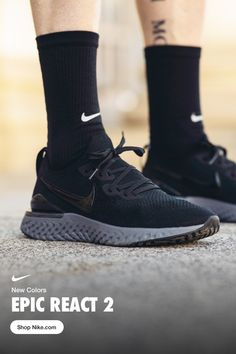 Nike Men's Running Shoe Epic React Flyknit 2 is part of Running shoes for men - Black Style Casual Sneakers, Sneakers Fashion, Casual Shoes, Nike Shoes, Sneakers Nike, Men S Shoes, Running Shoes For Men, Mens Fashion, Fashion Drug