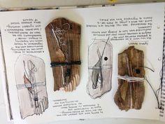 Textile art sketchbook