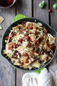 Cranberry, Butternut and Brussels Sprout Brie Skillet Nachos-1